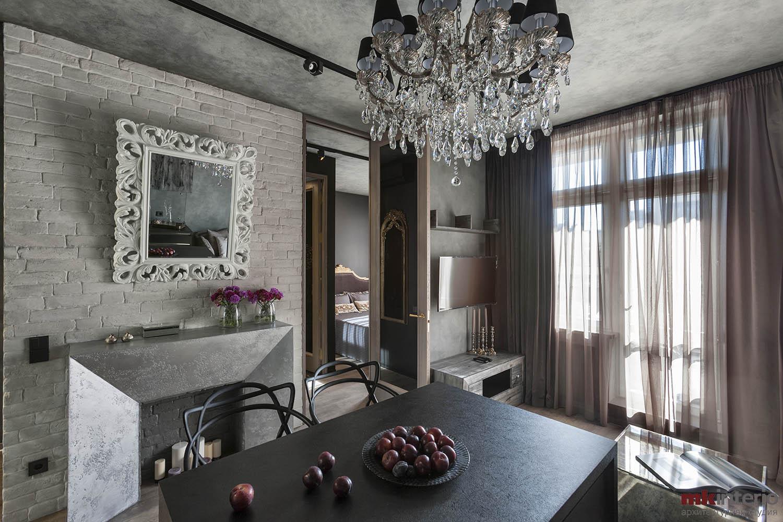 Дизайн интерьера квартиры 43 кв.м.