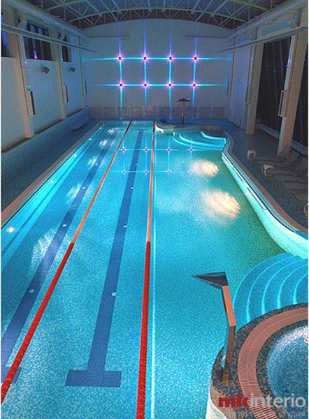 Дизайн интерьеров спортивной зоны и бассейна