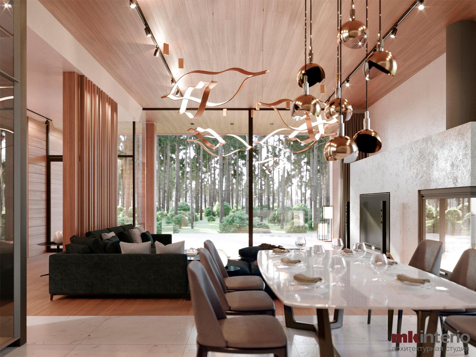 Дизайн интерьера дома 300 кв.м.