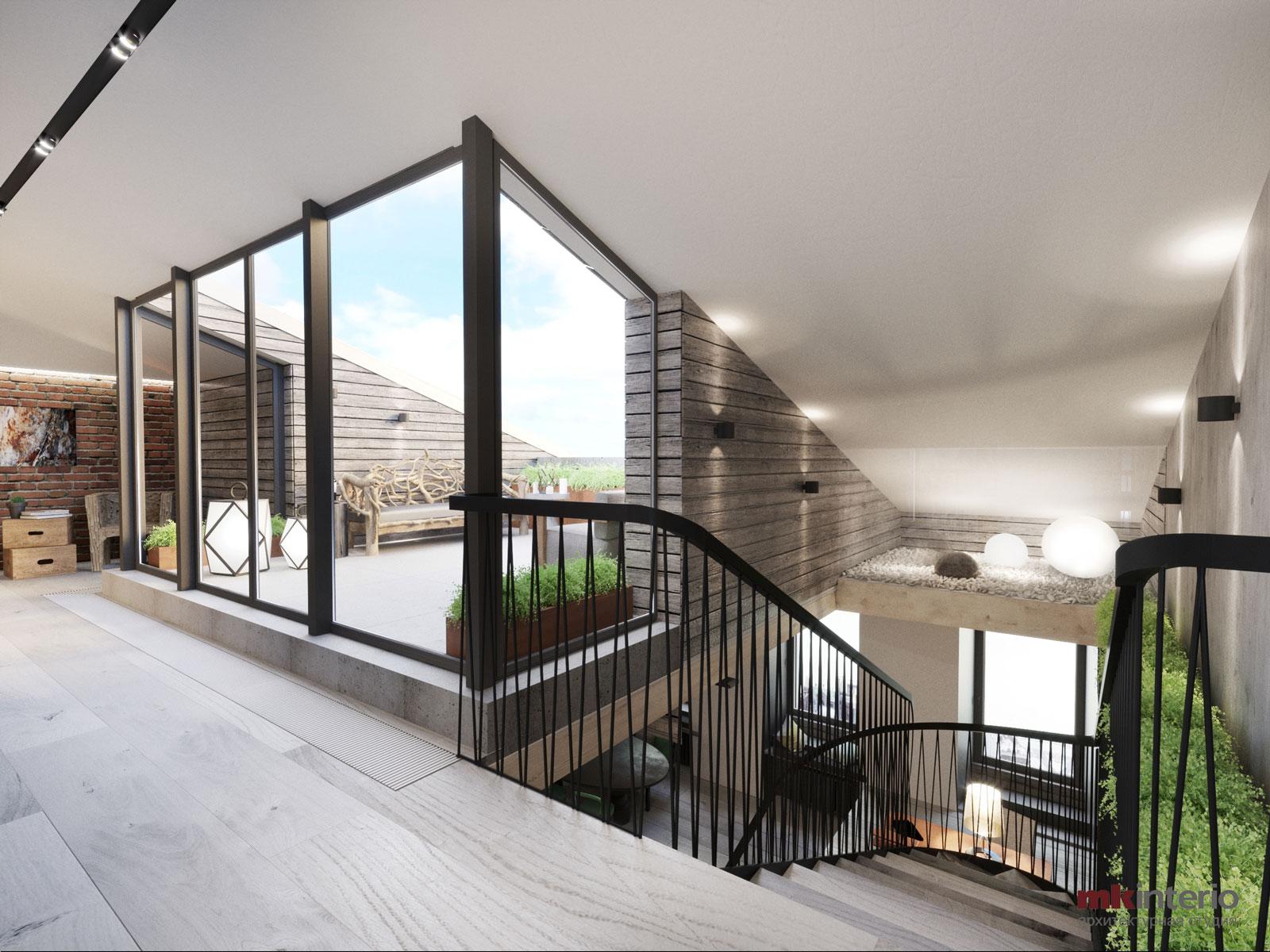 Дизайн интерьера квартиры в стиле лофт 288 кв.м.