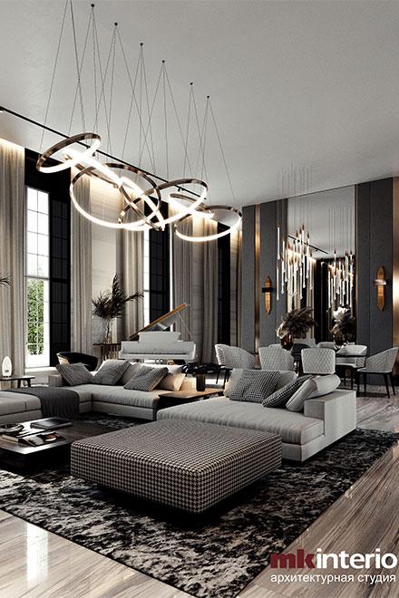 Апартаменты в Лондоне: натуральные материалы, скульптуры, камин